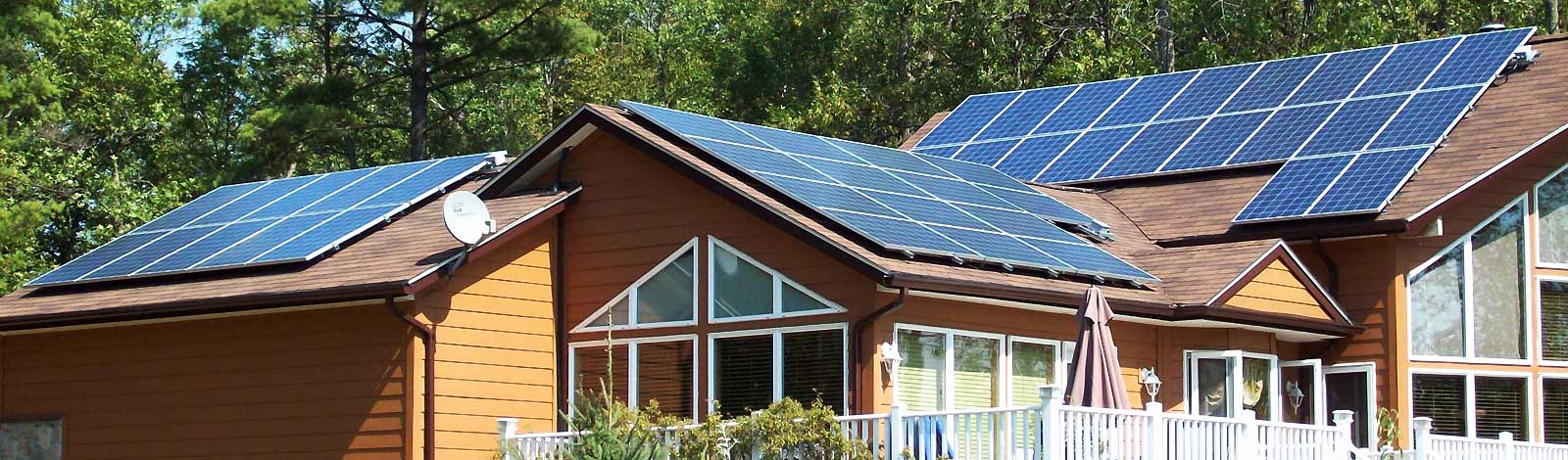 solar panels istalled at a home