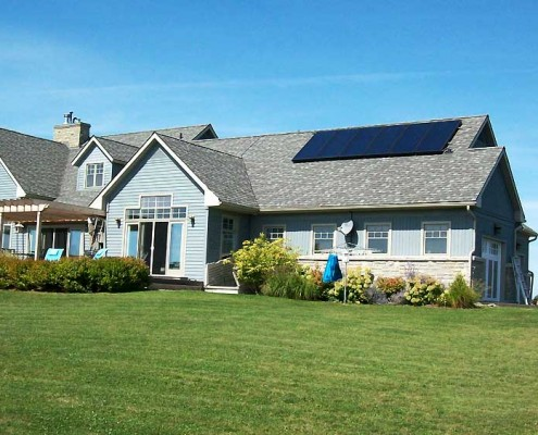 Solar panel installation at a home.